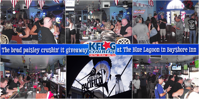 The Brad Paisley Crushin' It Giveaway @ KFLG Country's Live Broadcast @ The Blue Lagoon in the Bay Shore in Laughlin
