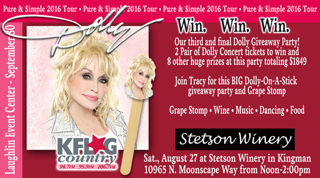 The KFLG Country Dolly Parton Giveaways!