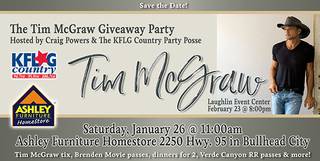 The Tim McGraw Giveaway Party